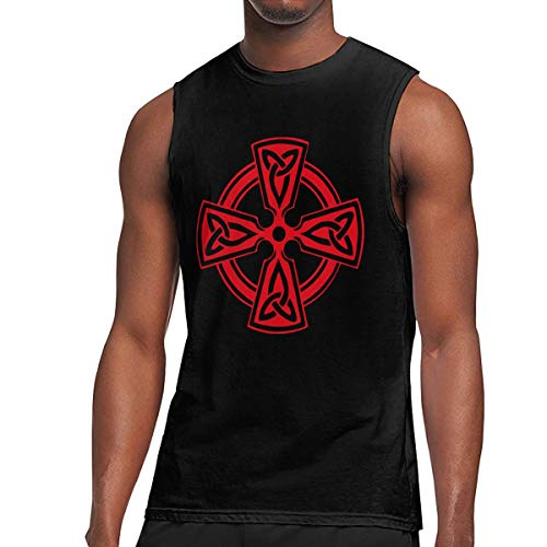 Men's Celtic Cross Knot Irish Shield Warrior Muscle Tank Top Gym Bodybuilding Sleeveless Shirts Black
