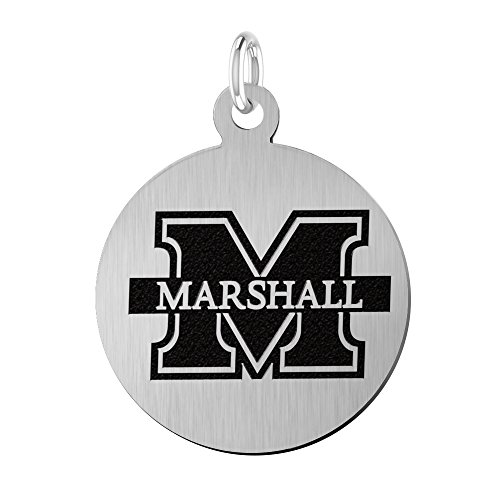 (College Jewelry Marshall University Thundering Herd Laser Engraved Stainless Steel 17mm Round)