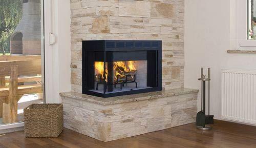 Corner Wood Burning Fireplace - 36