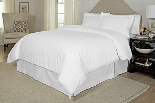 picture of Pointehaven 300 Thread Count Printed Duvet Set, Twin/Twin X-Large, White