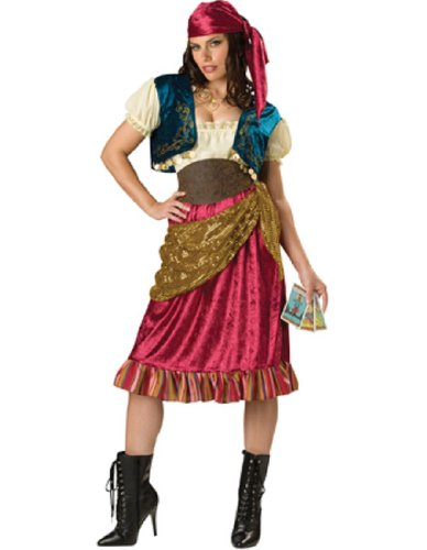 [InCharacter Costumes, LLC Women's Gypsy Costume, Red/Gold/Brown, Medium] (Gypsy Costume Head Scarf)