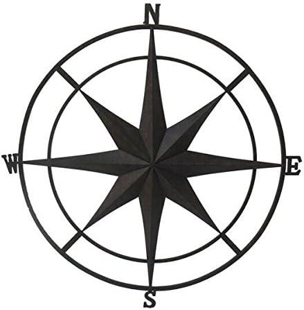 Backyard Expressions 906680 Wall Compass, Black