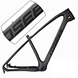 Aon-MX Bike FramesCarbon Fiber Road Bike Frame with Disc Brake Carbon Frame Mountain Bike Frame BB68 Unibody Internal Cable Routing T800 Ultralight Glossy Paint Frame 27.5 inch 29 inch,19inches