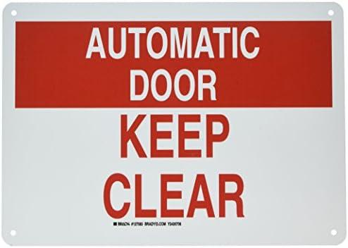 Amazon.com: Cartel para puerta de Brady 127083 S Sign ...