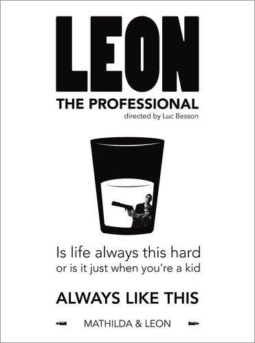 Acrylic print 30 x 40 cm: Leon the Professional - Luc Besson by dear dear POSTERLOUNGE