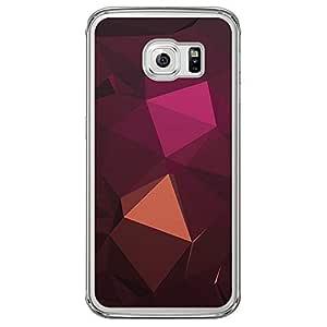 Loud Universe Samsung Galaxy S6 Edge Geometrical Printing Files A Geo 24 Printed Transparent Edge Case - Brown/Pink