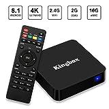 Kingbox Android 8.1 TV Box , 2018 Newest K2 2GB+16GB /802.11 b/g/n Support 3D/4K(60Hz)/H.265 Smart TV Box