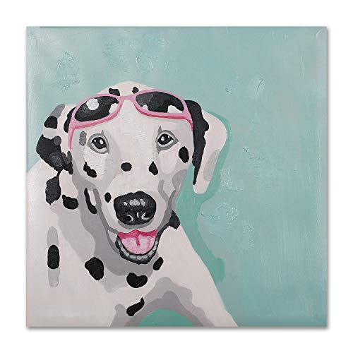 - Modern Pop Art Decor - Framed - Dalmatian Dog Animal Wall Art Canvas Print Home Decor Wall Art, Gallery Wrap Inner Frame, 24x24