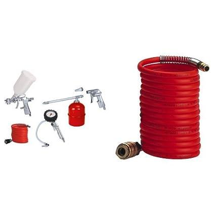 Einhell - Kit de aire comprimido (metálico, 5 piezas, 1.7 kg) color