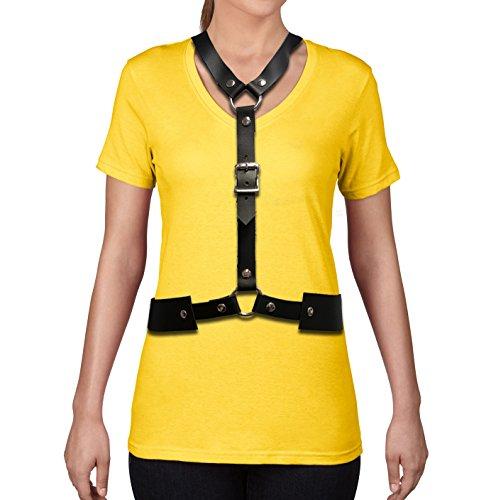 お肉ウォルターカニンガム測定Celebrity Inspired Trendyファッションレザーチョーカーレザーボディベルトハーネス
