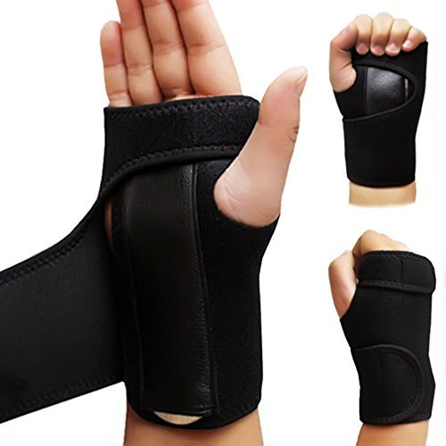 Markham123 Removable Adjustable Wristband Steel Wrist Brace Support Arthritis Sprain Carpal Tunnel Splint Wrap (Left Wrist)