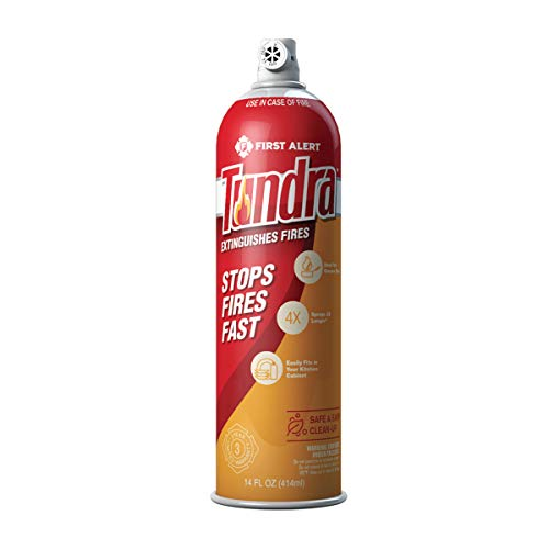 (First Alert Tundra Fire Extinguishing Aerosol Spray, AF400)
