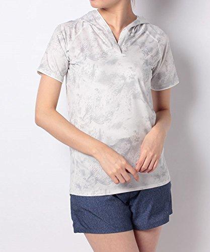 気を散らす大統領一般的に言えば(ナンバー) Number UVストレッチ RUN ショートスリーブフードTシャツ S ホワイト