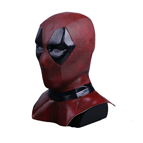 DP2 Wade Mask Cosplay Helmet Full Head Latex Flexible Helmet Halloween Costume Prop Fancy Ball Soft -