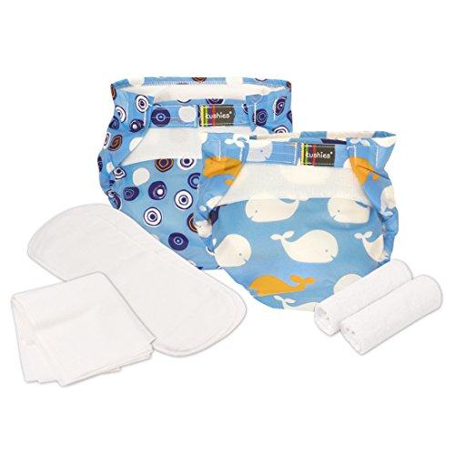 Kushies 5 Pack 100% Cotton Reusable Ultra-Lite Washable Eco-