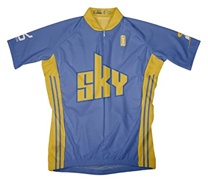 Amazon.com   VOmax WNBA Chicago Sky Men s Short Sleeve Away Cycling ... 6e3ae2531