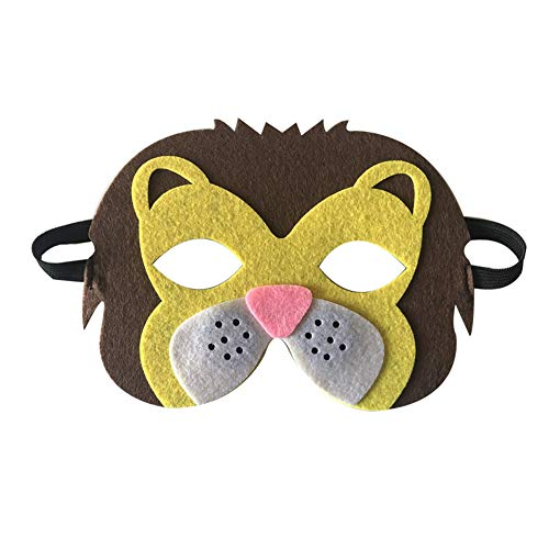 Tulas Children Halloween Masks Cute Animal Lion Tiger Fox Masquerade Party Costume Cosplay Prop (Lioness)