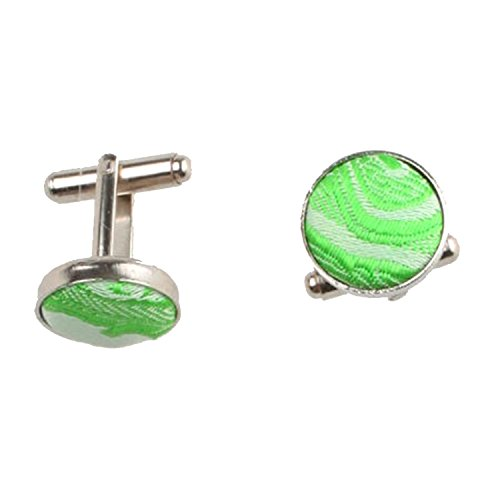 Various Tie Set Cufflinks Pocket of Men Patterned Green Occasions Square Paisley rrO50q