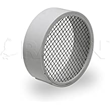 Raven R1508 PVC Termination Vent, 304 Stainless steel Mesh Screen with Drain, White, 2 Inch