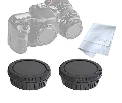 ( 2 Packs) Fotasy Rear Lens Cover Camera Body Cap for Canon EOS DSLR Camera Lenses, Canon EF/ Efs Lens Rear Cap Body Cap