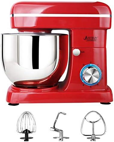 Sinbide Robot da cucina Robot da cucina, Robot da cucina elettrico a basso rumore da 1500 W 5L con 6 velocità con buoni accessori (Rosso-5L)
