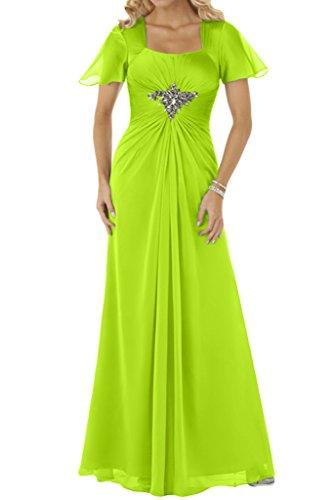 Kurz Abendkleid Lang Festkleid Ivydressing Damen Partykleid Beliebt Chiffon Promkleid Hellgruen Aermel qwRUxEzxF