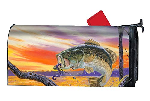 Bass Fish () Mailbox Makeover - Magnetic Mailbox Cover 21 x 18 Inches Waterproof Canvas Mailbox Cover