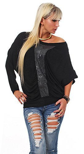 Moda Italy Blusa Mujer Loose Fit Blusa Básica Un Tamaño Blusa Camisa de manga larga con