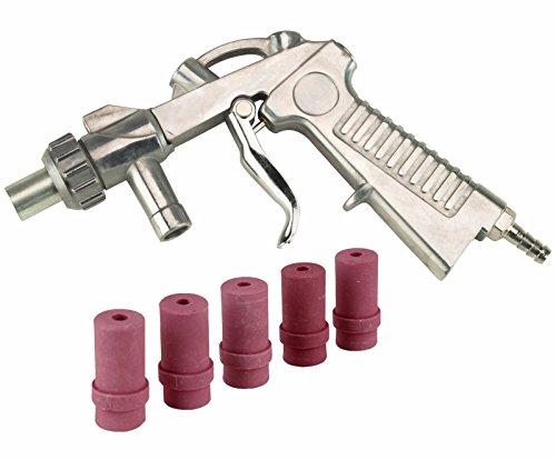 Dragway Tools Blast Media Gun & (5) 5MM Nozzles for 25 60 90 Sandblast Cabinet by Dragway Tools