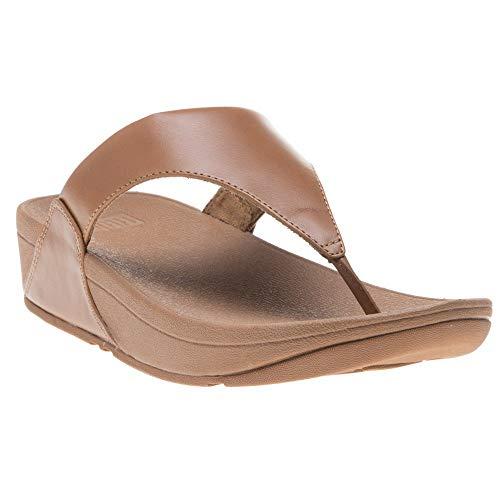 - FitFlop Lulu Leather Toepost Womens Flipflop Caramel UK5 EU38 US7