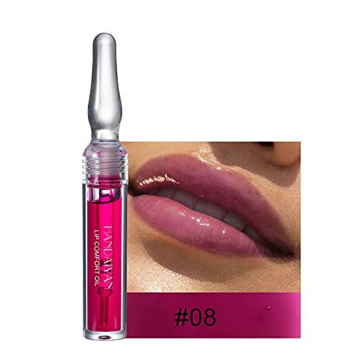 Nourishing Lip Oil - Fall/Winter Lip Glaze - Moisturizing Clear Lipstick Gift for Christmas/Halloween/Thanksgiving (#8)