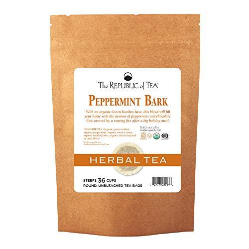 (The Republic Of Tea Organic Peppermint Bark Herb Tea, 36 Tea Bags, Fusion Of Cocoa And Peppermint Tea)