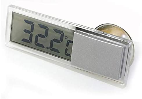 JunYe Mini 2 in 1 LCD Digital Auto Auto LKW Uhr Thermometer mit Saugnapf