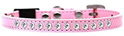 Mirage Pet Products Clear Jewel Breakaway Cat Collar, Size 10, Light Pink