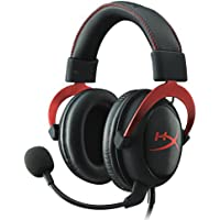 HyperX Cloud II On-Ear 3.5mm Wired Gaming Headphones with 7.1 Surround Sound (Red)