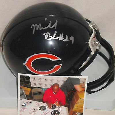 Michael Bush Chicago Bears Autographed Signed Mini Helmet A