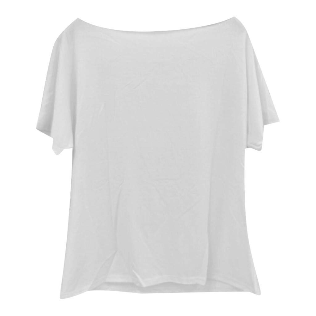 Gzx LTX Womens Summer Solid Color Loose Casual T-Shirt Top Round Neck Lace Panel Short Sleeve Top