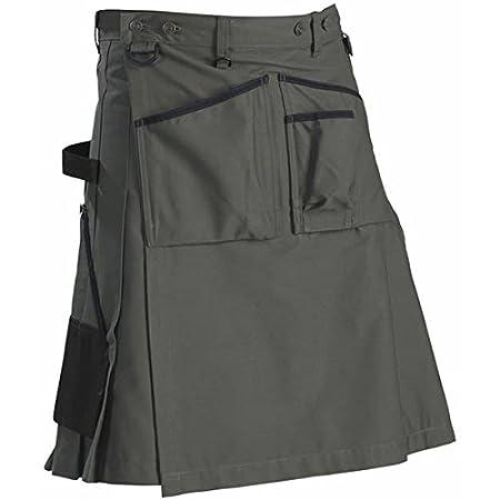 Blakl/äder 147418354699C44 Size C44 Garden Kilt Army Green//Black