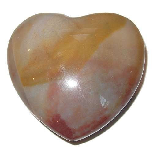 Chalcedony Heart 03 Brown Blue Red Crystal Mind Body Soul Love Crystal Gift 2.3