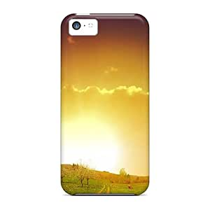 New CXJEguu7960pBrIt Field Sunset Skin Case Cover Shatterproof Case For Iphone 5c