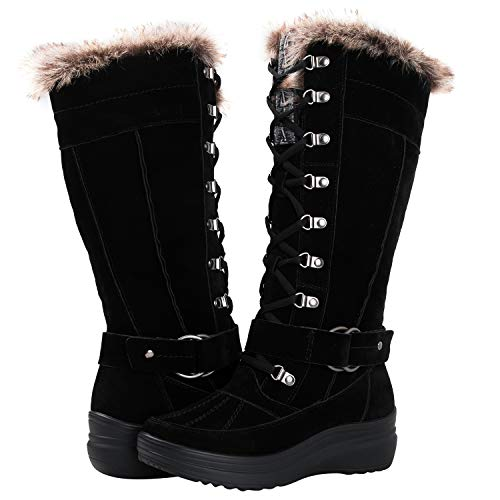 GLOBALWIN Women's 1827 Black Fashion Snow Boots ()