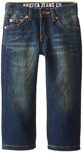 Nautica Little Boys' Slim Straight Denim Jean 2, Retro, 2T