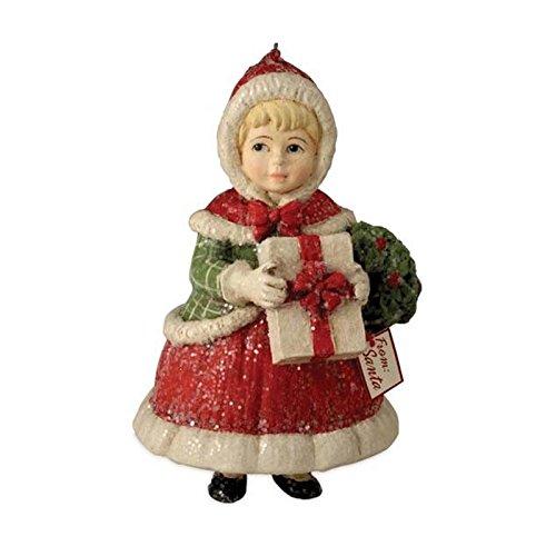 Bethany Lowe Holiday Holly Christmas Girl Figurine