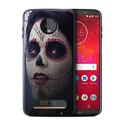 eSwish Phone Case/Cover for Motorola Moto Z3 Play 2018 / Halloween Makeup Design/Day of The Dead Festival Collection