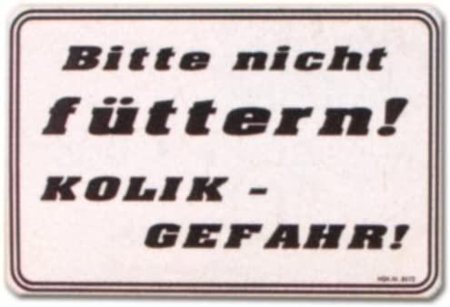 Cartel - fuera de beber Kolikgefahr - forro biberón ...