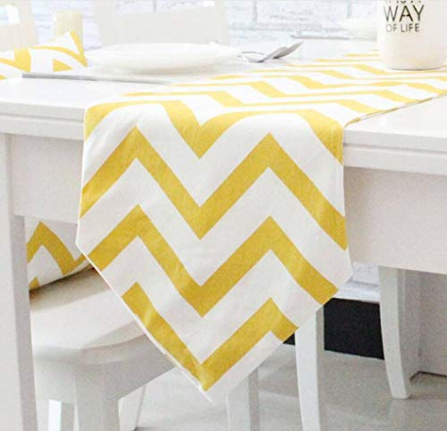 US-ROGEWIN Table Runner Dustproof Cotton Concise No Fade Black White Striped Printed Tablecloth Modern Household Decoration -