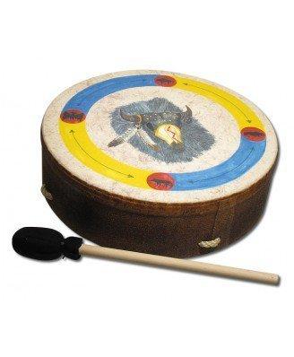 Remo Drum, Buffalo, 16'' Diameter, 3.5'' Depth, 'Buffalo' Graphics