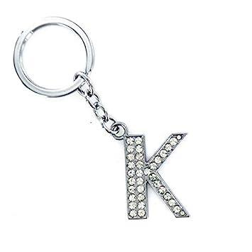Amazon.com: Llavero con letras de cristal brillante del ...