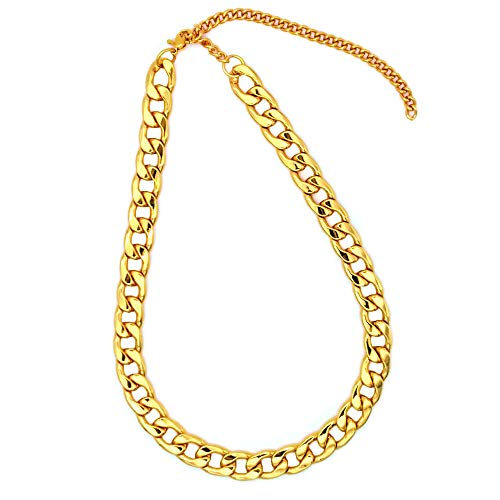 - TUOKAY direct Big Gold Puppy Chain Dogs Fashion Gold Costume Necklace Chain Dog Collar, 12mm, 15