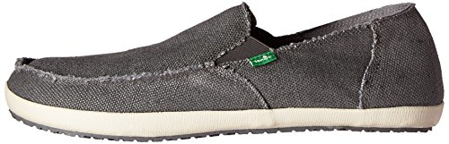 Sanuk M ROUNDER HOBO Men's Slip On, Charcoal, 14 US